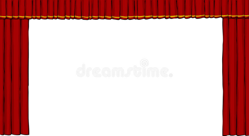 Download Theater curtain stock vector. Image of cinema, film, entertainment - 26507052