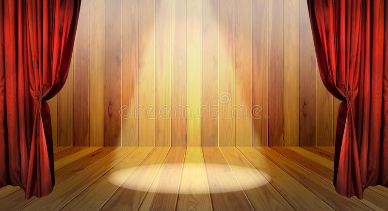 Theater curtain and concert scene royalty free stock image