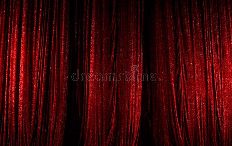 Theater curtain scene, red royalty free stock photos