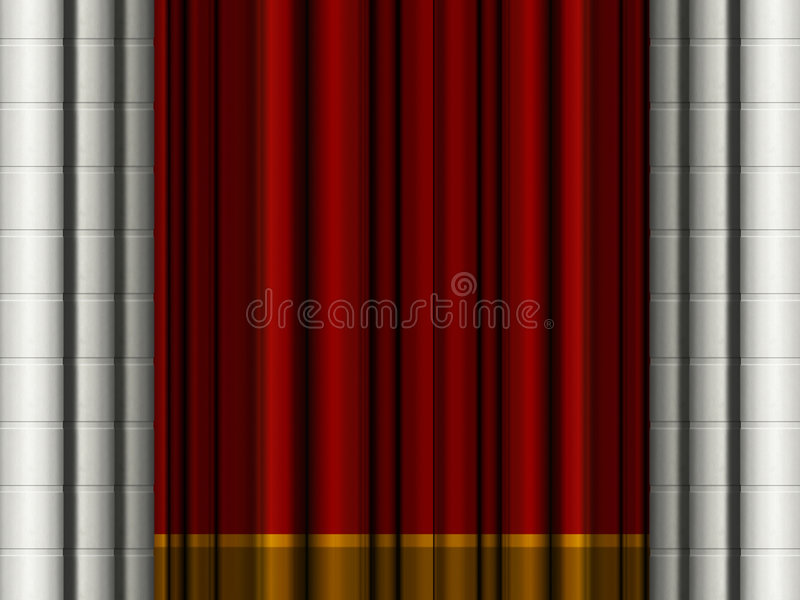 Download Theater curtains stock illustration. Image of artwork - 7153469