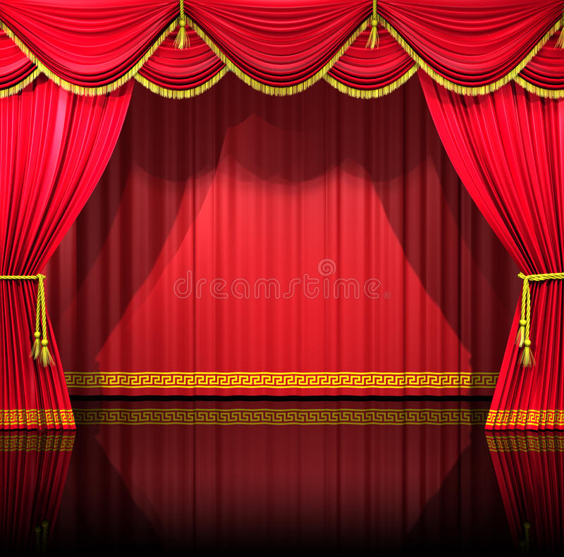 Theater Curtains With Backdrop Royalty Free Stock Photos Image 15208658