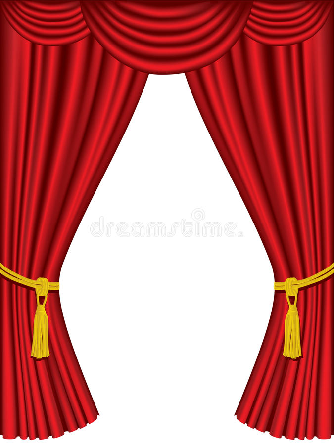 Download Theater Curtains With Drapes Stock Vector - Illustration of film, design: 10224730