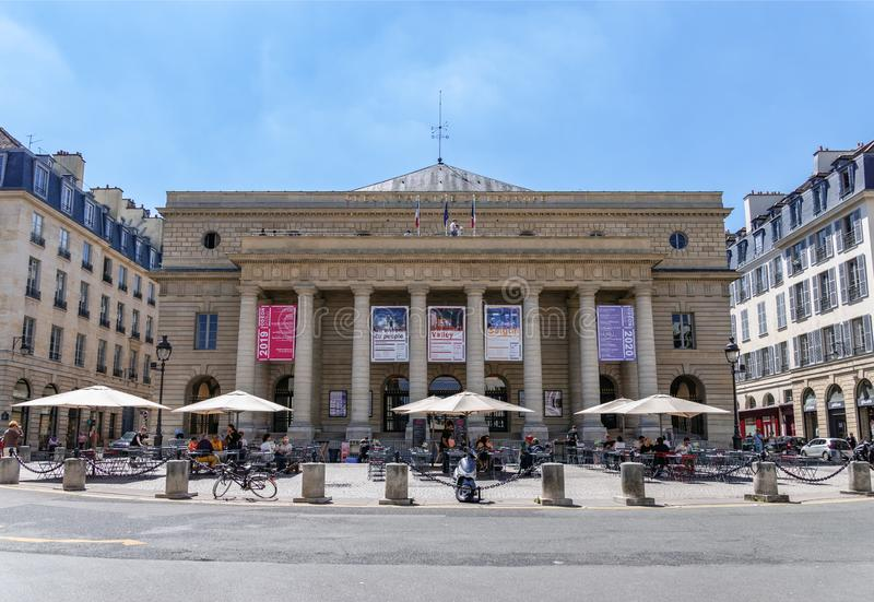 Theater de l 'Odeon im 6. Arrondissement von Paris lizenzfreies stockfoto