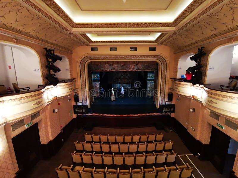 Theater des jüdischen Staats, Bukarest, Rumänien stockbilder
