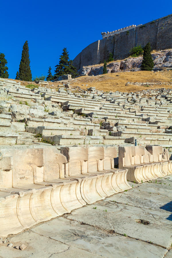 Theater of Dionysos, Acropolis, Athens royalty free stock photography