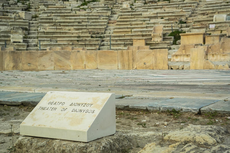 Theater of Dionysos, Acropolis stock photography