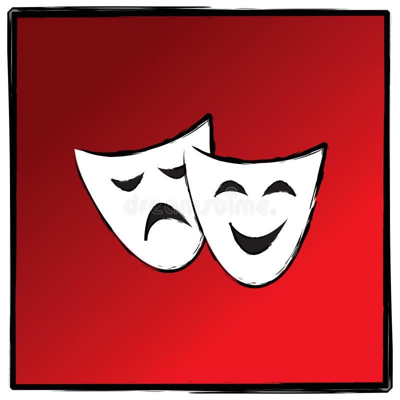 Theater drama masks vector illutration. Theater drama masks vector illustration vector illustration