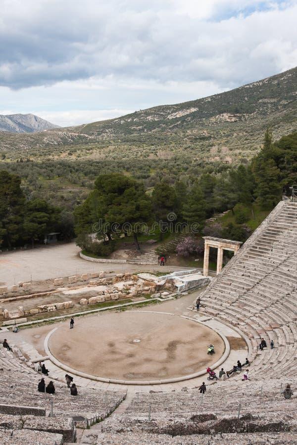 Theater in Epidaurus stock afbeelding