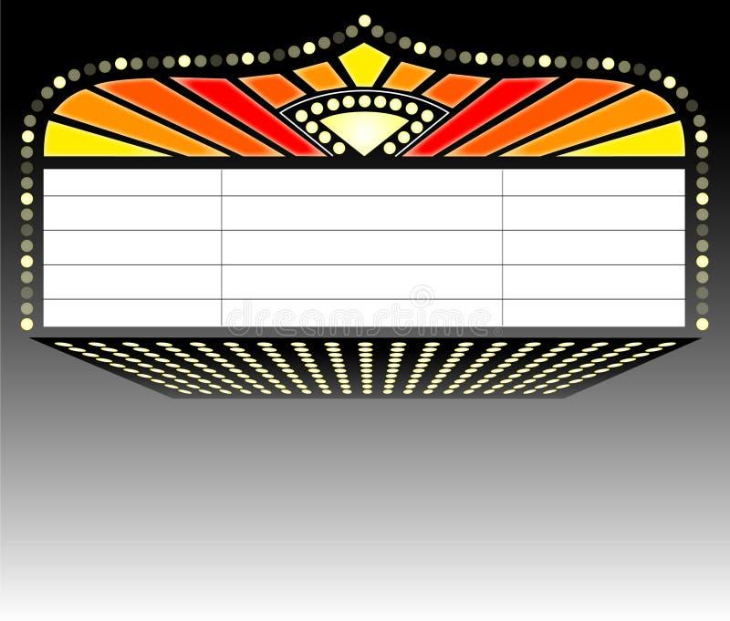 Theater-Festzelt Sign/ai lizenzfreie abbildung