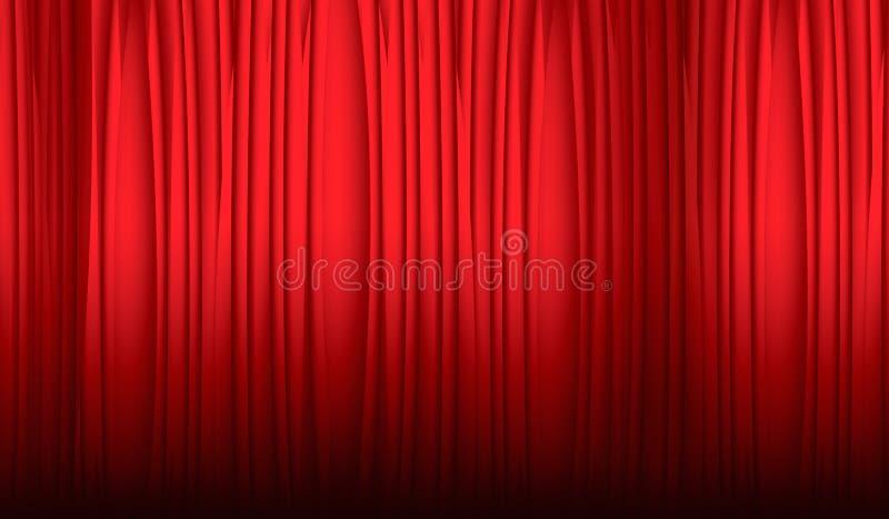 theater gordijn stock illustratie