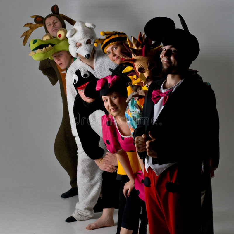 Free Theater Group In Animal Costumes Stock Photos - 5546783