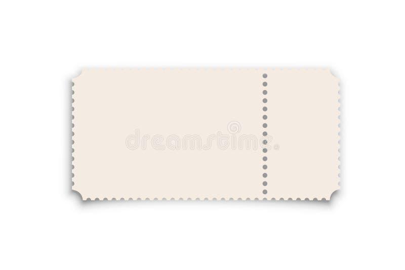 Theater, het realistische vectormalplaatje van het bioskoopkaartje royalty-vrije illustratie