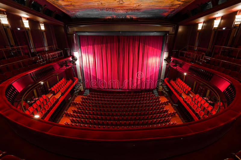 Theater interior stock photo