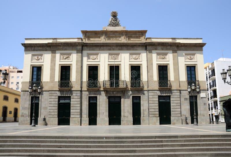 Theater in Kerstman Cruz DE Tenerife stock foto's