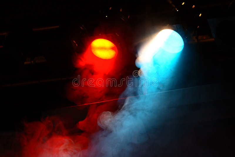 Theater lights stock image
