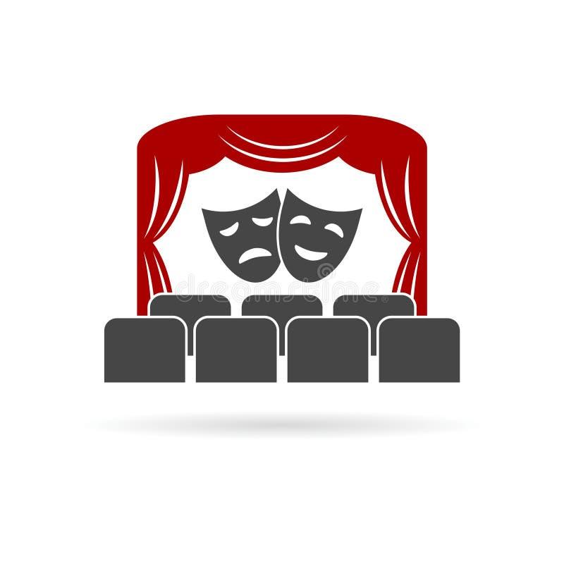 Theater logo, Theater icon royalty free illustration