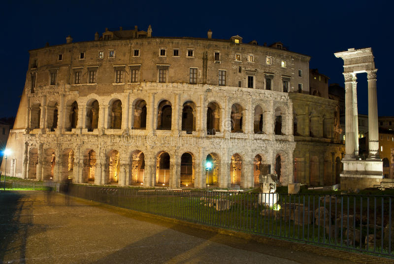 Theater of Marcellus in Rome stock image