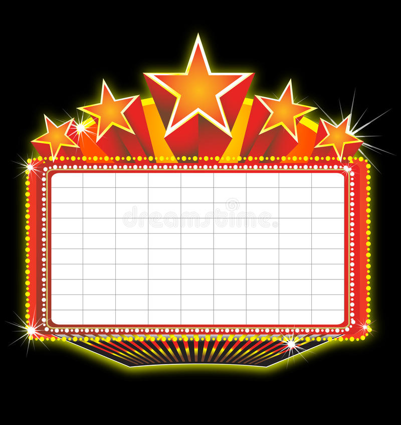 Theater marquee sign vector illustration