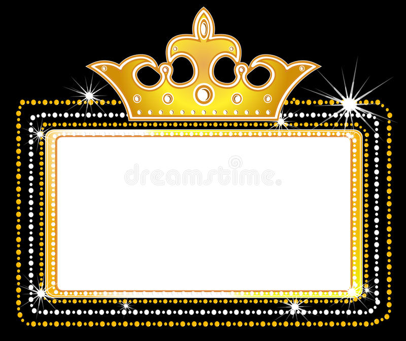 Theater Marquee Sign Stock Vector Illustration Of Crown