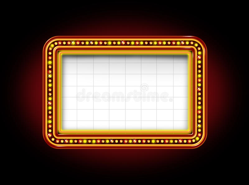 Theater Marquee Sign stock illustration