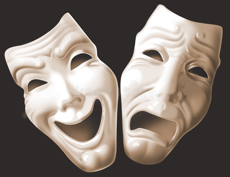 Theater_mask vector illustration