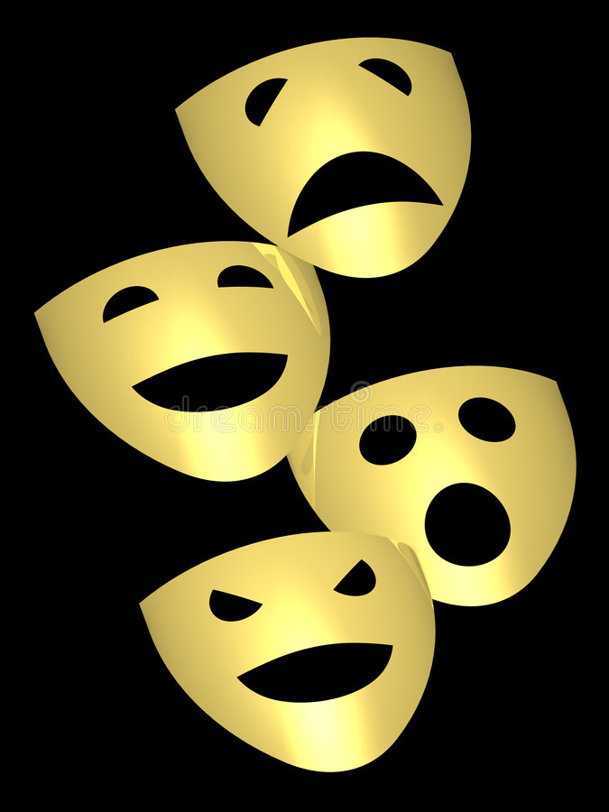 Theater mask royalty free stock photography