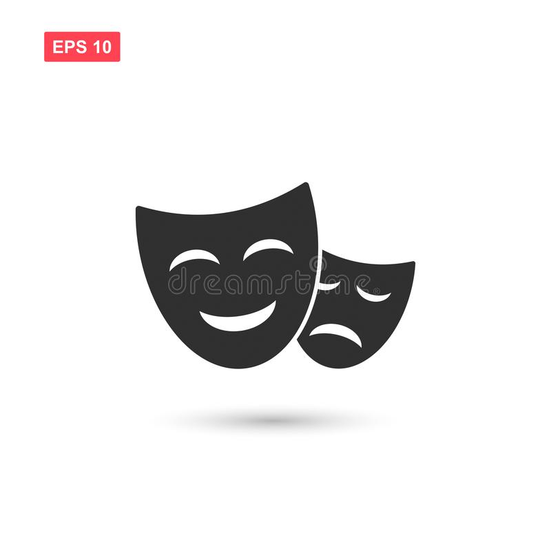 Theater mask icon vector design isolated 3. Eps10 royalty free illustration