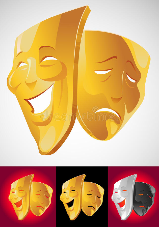 Download Theater masks stock vector. Image of tragedy, sadness - 11033109