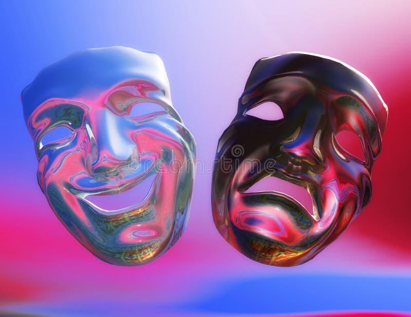 Theater Masks royalty free illustration