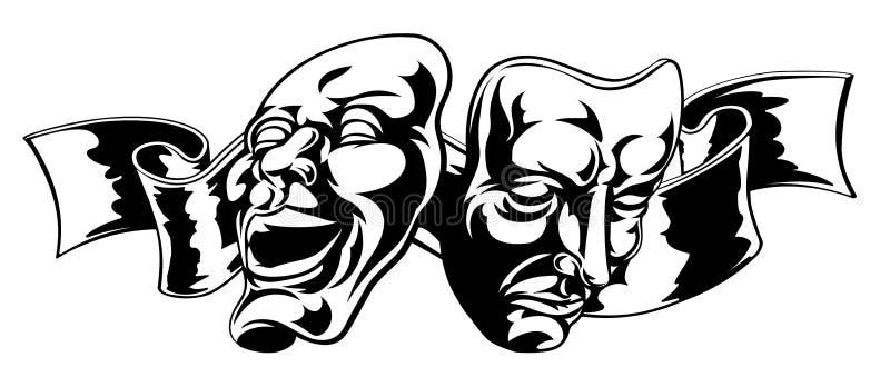 Theater Masks stock illustration
