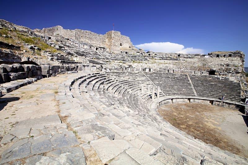 Theater in Milet, Turkay stock image
