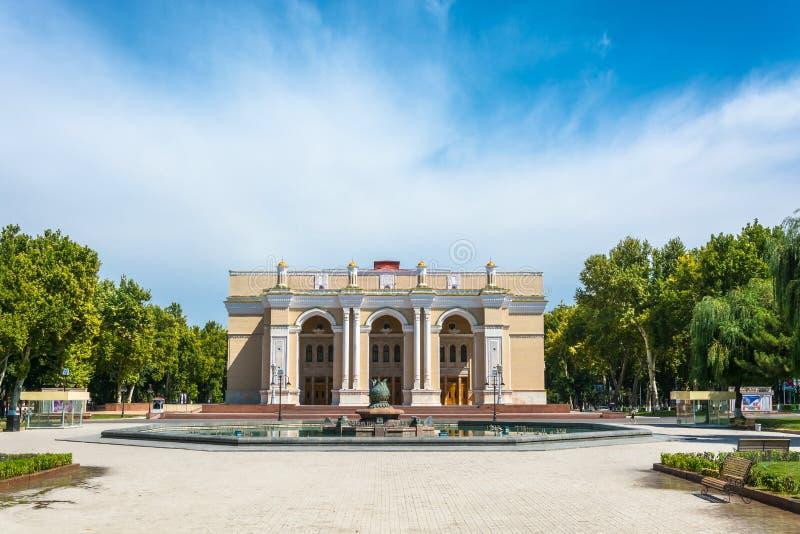 Theater na Alisher Navoi in Tashkent, Oezbekistan wordt genoemd dat royalty-vrije stock afbeelding
