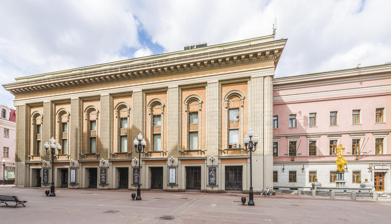Theater na E wordt genoemd dat Vakhtangov in Moskou royalty-vrije stock foto
