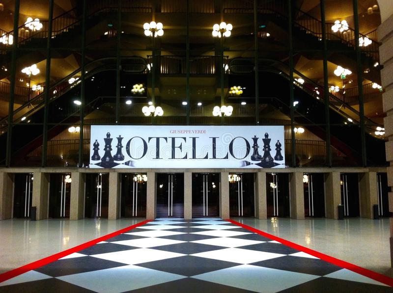 Theater Otello stockbilder
