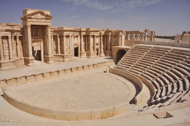 Theater at Palmyra stock image