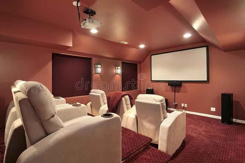 Theater with red walls royalty free stock photo