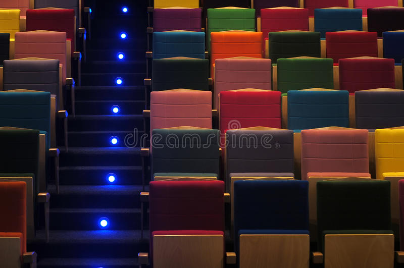 Download Theater's seats stock photo. Image of chair, light, movie - 14976752