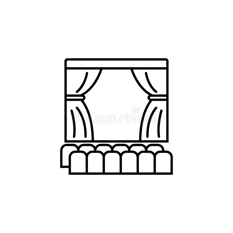 theater scene icon. Element of lighting icon for mobile concept and web apps. Thin line theater scene icon can be used for web and vector illustration