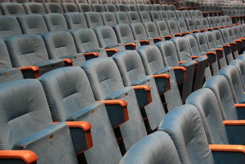Theater seats stock photos