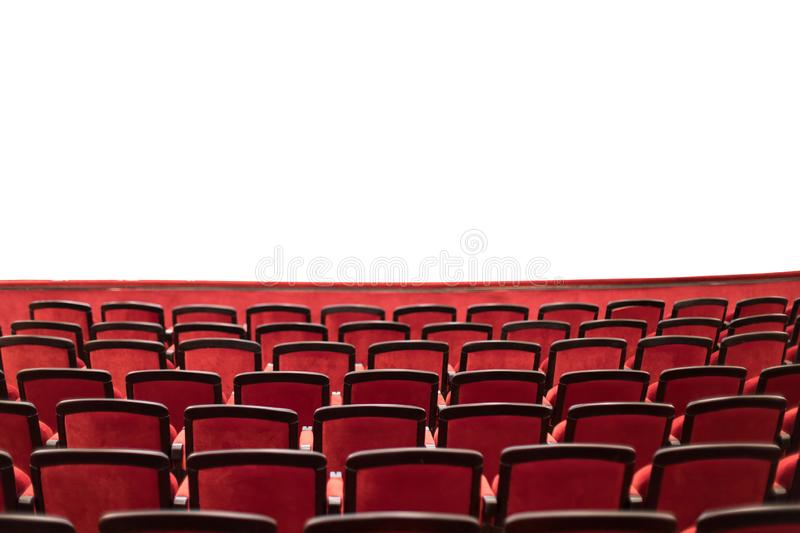 theater seats with isolated area royalty free stock photography