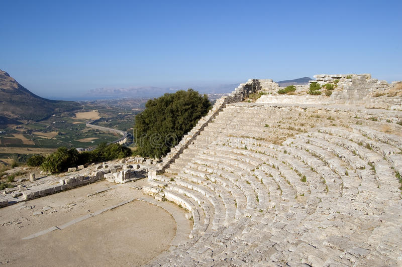 Download The Theater Of Segesta In Sicily Stock Image - Image of spectacle, mediterranean: 10099175