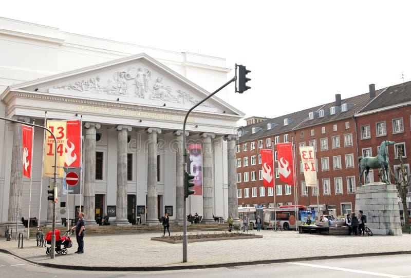 Theater in stad Aken, Duitsland stock afbeeldingen