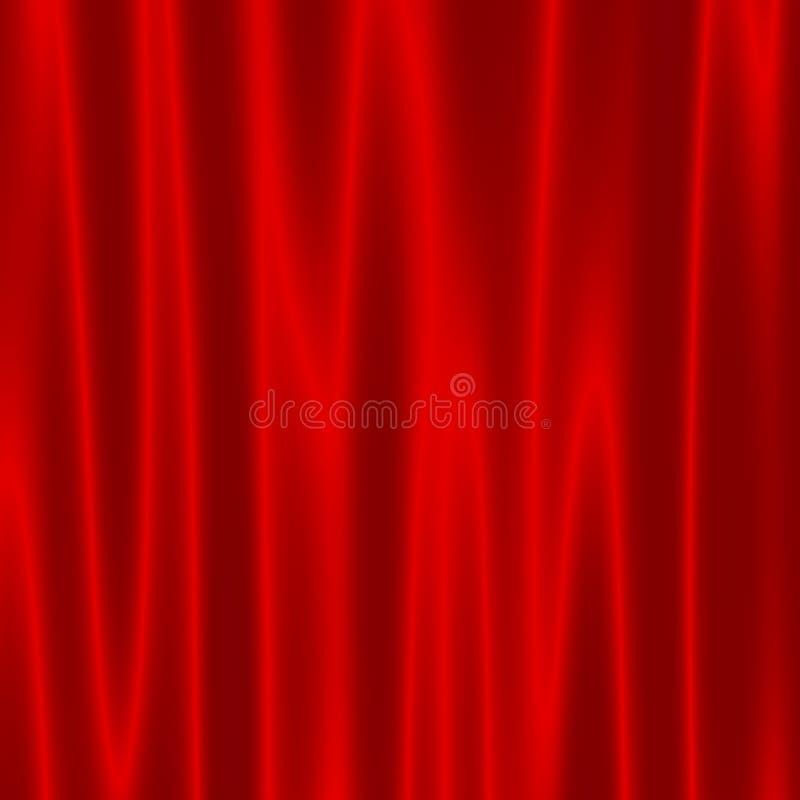 Theater-Stadium mit roten Samt-Vorhängen - künstlerischer abstrakter Wellen-Effekt - Hintergrund für Design-Grafiken - Theater dr lizenzfreie abbildung