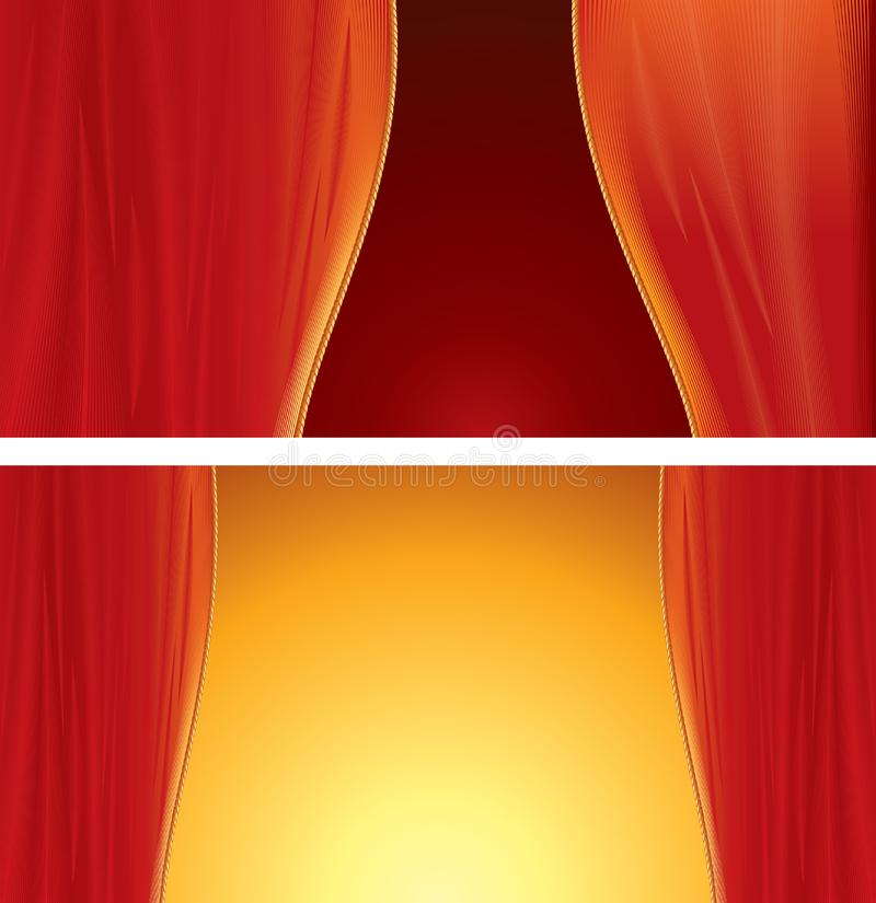 Theater curtains royalty free stock photos