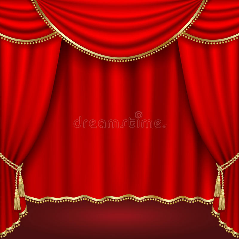 Download Theater stage stock vector. Image of luxury, decor, image - 17201340