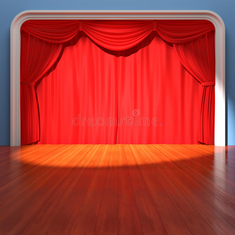 Download Theater Stage stock illustration. Image of showtime, scenario - 25509173