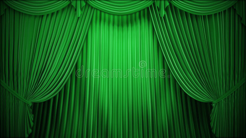 Download Theater or stage curtain stock illustration. Image of entrance - 24077280