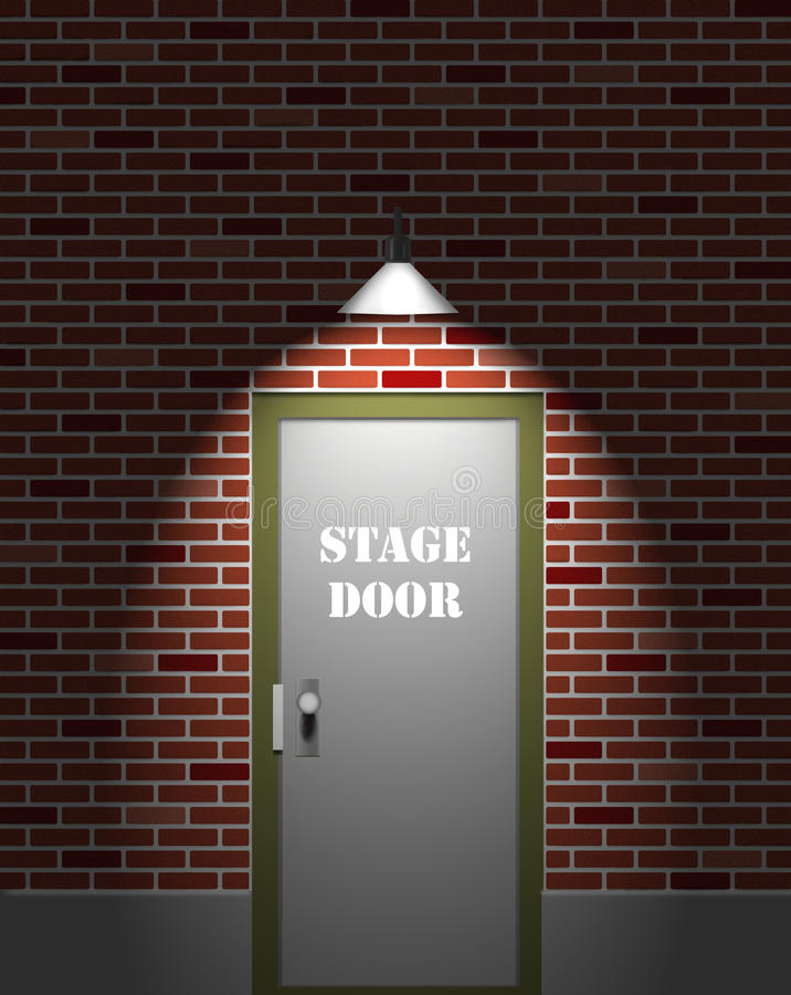 Theater Stage Door. Background illustration of a theater stage door. possible background for a playbill or poster advertising a play