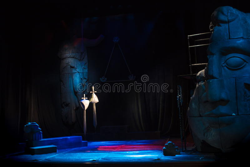 Download Theater Stage With Scenery For The Play Stock Photo - Image: 83704119