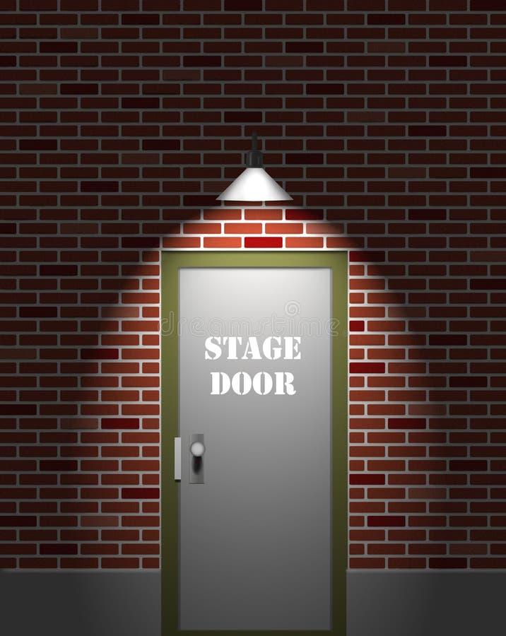 Theater-Stufe-Tür stock abbildung